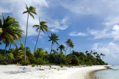 Landscape of of Maina Island in Aitutaki Lagoon Cook Islands Royalty Free Stock Photo