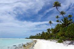 Landscape of of Maina Island in Aitutaki Lagoon Cook Islands Royalty Free Stock Photos