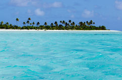 Landscape of of Maina Island in Aitutaki Lagoon Cook Islands Stock Photos