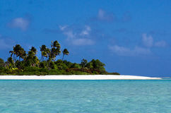 Landscape of of Maina Island in Aitutaki Lagoon Cook Islands Royalty Free Stock Photography