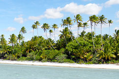 Landscape of of Maina Island in Aitutaki Lagoon Cook Islands Royalty Free Stock Photo