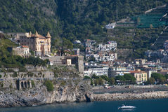 Landscape Maiori Village, Italy Royalty Free Stock Photography