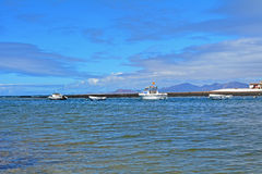 Landscape Majanicho beach in Fuerteventura Canary islands Spain Stock Images
