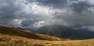 Landscape with majestic mountains Stock Photography