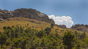 Landscape of Majorca. Beautiful landscape picture of a mountain on Majorca Royalty Free Stock Photography