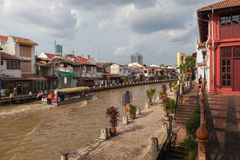 Landscape of Malacca city Royalty Free Stock Images