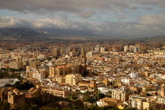 Landscape of Malaga, Spain royalty free stock photography