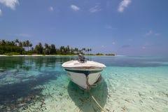 Maldives. Landscape of Maldives - Olhuveli Beach & Spa Maldives, Sum Siyam Resorts stock photography