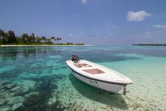 Maldives. Landscape of Maldives - Olhuveli Beach & Spa Maldives, Sum Siyam Resorts royalty free stock image
