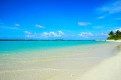 Landscape of maldivian island royalty free stock photo