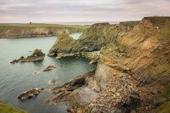 Landscape. Malin Beg. county Donegal. Ireland. Coastal landscape and martello tower. Malin Beg. near Glencolumbkille. county Donegal. Ireland Stock Photo