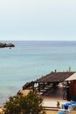 Landscape, Malta, Gozo. Landscape. Bay on Malta. Bar on the beach Royalty Free Stock Image