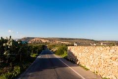 Landscape of Malta island. Beautiful landscape of Malta island. Beautiful landscape in south Europe Stock Photo