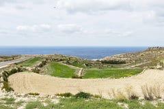 Landscape in Malta. Landscape view of the old city in Malta, Valetta Stock Photo