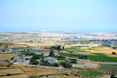 Landscape in Malta. Landscape from the walls of Mdina, Malta Royalty Free Stock Images