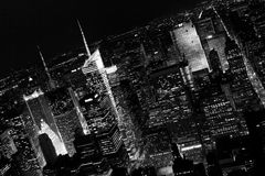 Manhattan skyscrapers. The landscape with Manhattan skyscrapers royalty free stock images