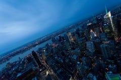 Manhattan. Landscape of Manhattan at sunset Royalty Free Stock Image
