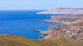 Landscape of Mani peninsula, Laconia, Peloponnese, Greece. Royalty Free Stock Images