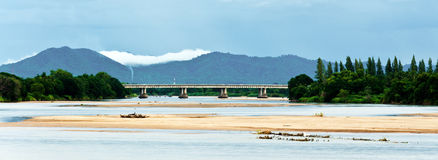 Landscape of Maping river, Tak city Royalty Free Stock Photo