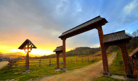 Landscape from Maramures. Romanian landscape from Maramures Romania, at sunset Stock Photography