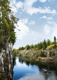 Landscape with Marble Canyon in Karelia Ruskeala Stock Photography