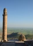 Landscape of Mardin city with minaret Stock Images