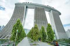 Landscape of Marina Bay Sands in Singapore. Royalty Free Stock Images