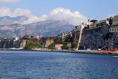 Landscape of Marina Grande in Sorento - Naples. Sorrento coast view, Naples - Italy Stock Image