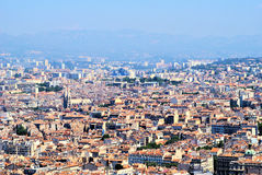 Landscape of Marsylia. France buildings in the summer, lighty, sunny day Royalty Free Stock Image
