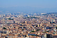 Landscape of Marsylia. Marseille in France. Old houses and sunny day Royalty Free Stock Photography