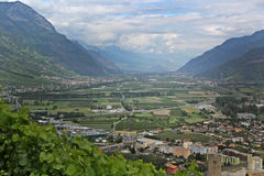 Landscape of Martigny Royalty Free Stock Image