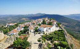 Landscape of Marvao,old village. Royalty Free Stock Photo