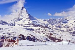 Landscape of Matterhorn peak Switzerland Royalty Free Stock Image