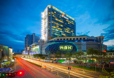 Landscape of MBK shopping mall in early night time Royalty Free Stock Image
