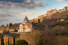 Landscape of the medieval city and cathedral in Tuscany Royalty Free Stock Image
