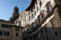 Landscape of Medieval Florence buildings, Italy Stock Photos