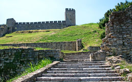 Landscape of Medieval fortress Kalemegdan, Belgrade, Serbia. Landscape of steps, walls and towers of Medieval fortress Kalemegdan, Belgrade, Serbia. It is Stock Photos
