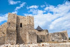 Landscape medieval Fortress of the Suceava district, from Romani Royalty Free Stock Photo