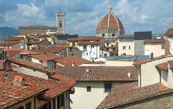Landscape of Medieval roofs of Florence, Italy Royalty Free Stock Photos