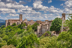 Landscape of the medieval town Colle di Val d'Elsa, Tuscany, Ita Stock Photography