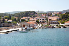 Landscape of the Mediterranean sea in Croatia Royalty Free Stock Photos