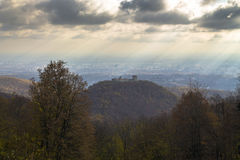 Landscape of Medvedgrad old town on a hill Stock Images