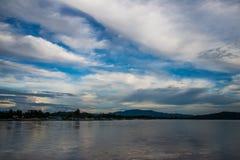 Landscape of mekong river Royalty Free Stock Images