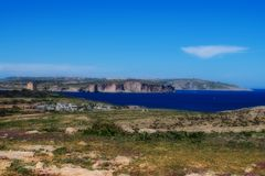 Landscape of Mellieha, Malta royalty free stock images
