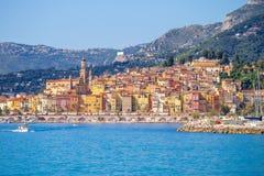 Landscape of Menton, Cote d`Azur, France