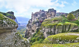 Landscape of Meteora Greece Royalty Free Stock Photos