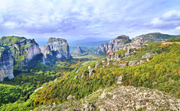 Landscape of Meteora Greece Stock Photography