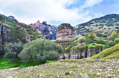 Landscape of Meteora Greece Royalty Free Stock Image