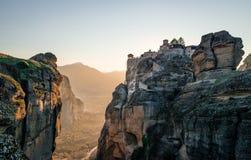 Landscape of Meteora, Greece. stock image
