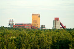 Landscape mine in forest, old factory Stock Photo